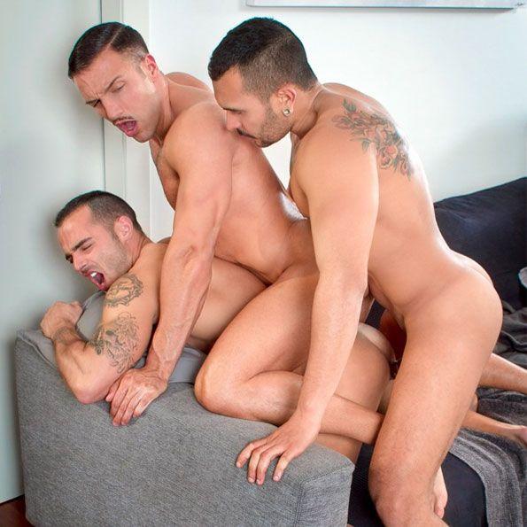 Lucio, Donato and Adrian in a hot threesome | Daily Dudes @ Dude Dump