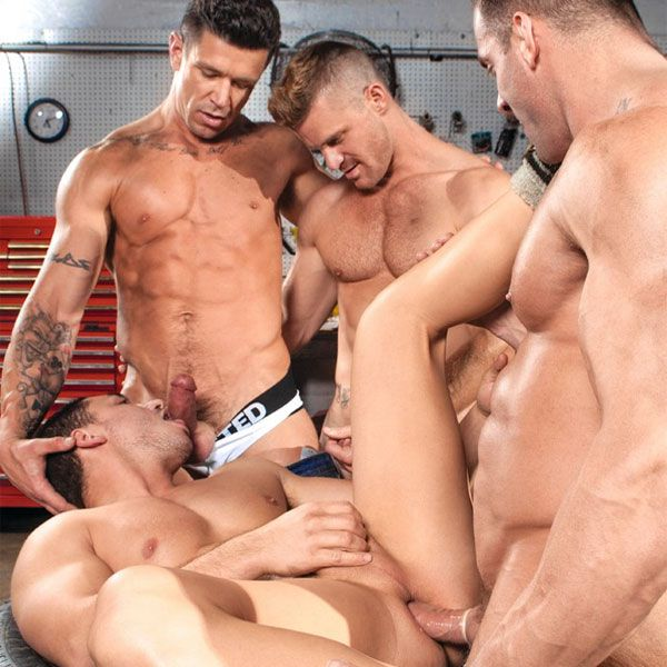 Marc Dylan gets gang banged | Daily Dudes @ Dude Dump