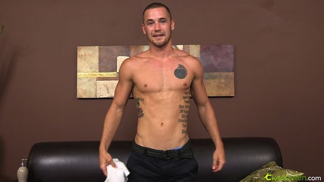 Marine Aries jerks off for the guys | Daily Dudes @ Dude Dump
