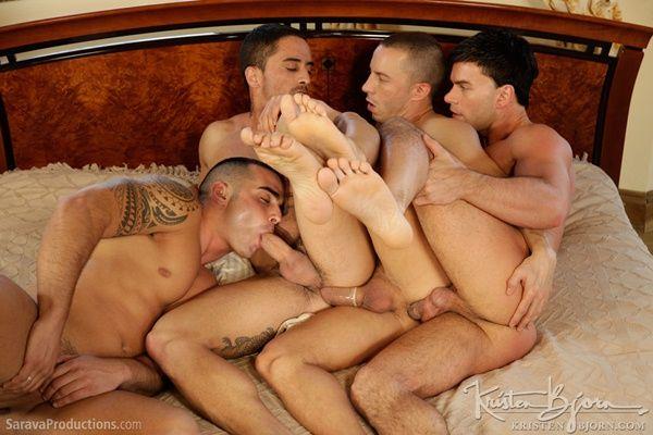 Masculine Foursome Orgy | Daily Dudes @ Dude Dump