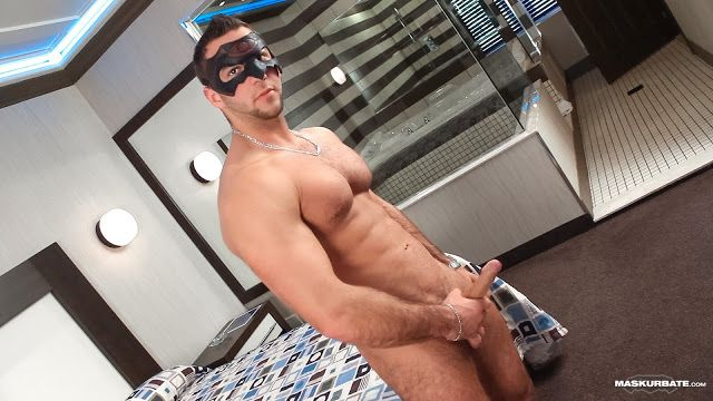 Masked model JP blows a big load | Daily Dudes @ Dude Dump