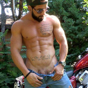 Motor Bike Cum | Flesh 'n' Boners | Daily Dudes @ Dude Dump