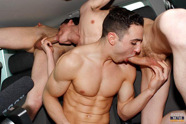 Muscle Boy Jake Kelvin Tricks in a Van | Daily Dudes @ Dude Dump