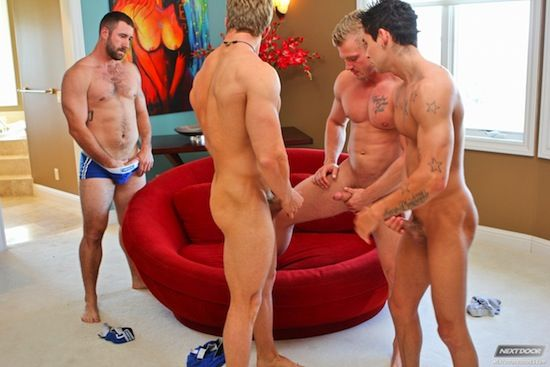 Muscle Jock Orgy!   Nude Male Models   Daily Dudes @ Dude Dump