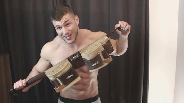 Muscle man Joshua delivers a fresh cum sandwich! | Daily Dudes @ Dude Dump