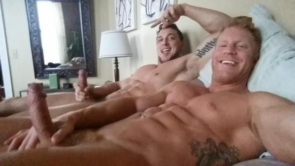 Men jacking off together