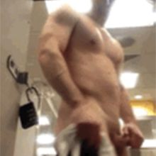 Muscle stud caught naked and touching his dick | Daily Dudes @ Dude Dump