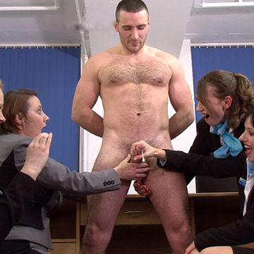 Pervy Females Inspect Hairy Stud Terry | Daily Dudes @ Dude Dump