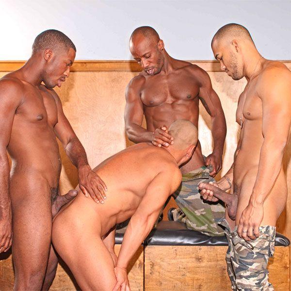 Prisoner takes three big black cocks   Daily Dudes @ Dude Dump