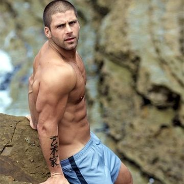 Ripped Handsome Stud At The Beach | Daily Dudes @ Dude Dump