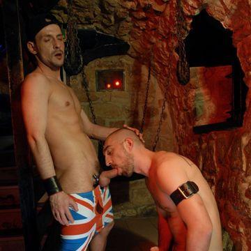 Robin Hole gets gloryhole cock from David Castan | Daily Dudes @ Dude Dump