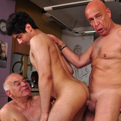 Senior Studs Fuck Hot Horny Twink | Daily Dudes @ Dude Dump