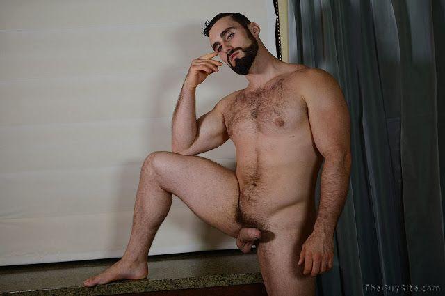 Sexy hairy hunk Jaxton Wheeler jerks off | Daily Dudes @ Dude Dump
