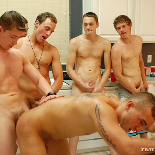 Slutty Jock Gets Used by Five Frat Bros! | Daily Dudes @ Dude Dump