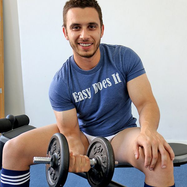 Straight Guy James Nowak Works Out Hard | Daily Dudes @ Dude Dump