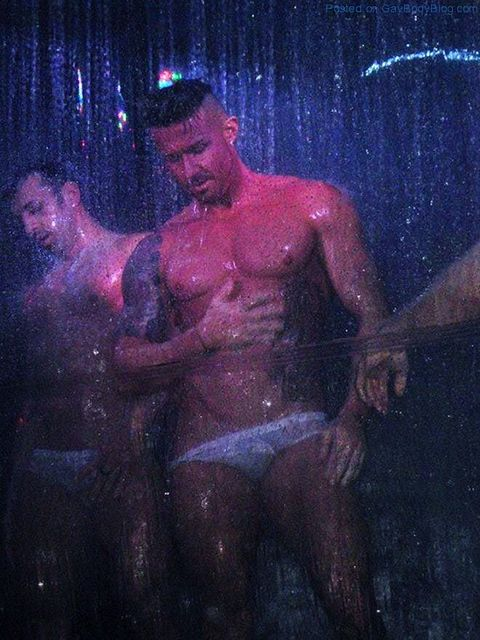Strippers Live Shower Show | Daily Dudes @ Dude Dump