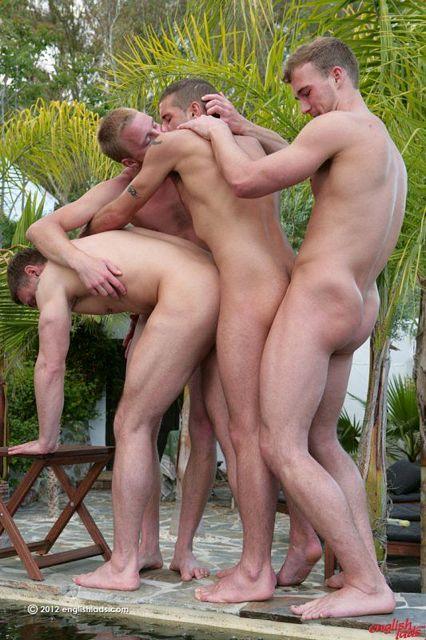 Three Straight Lads & Dan in Chain Fuck | Daily Dudes @ Dude Dump