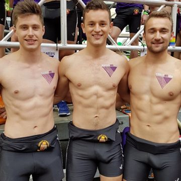 Three young athletes with impressive bulges | Daily Dudes @ Dude Dump