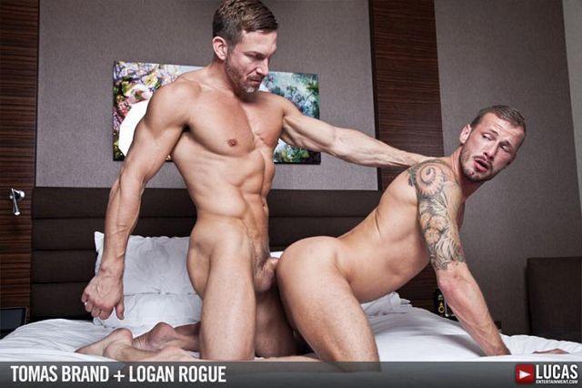Tomas Brand and Logan Rogue flip-fuck bareback | Daily Dudes @ Dude Dump