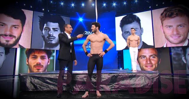 Tommaso Rinaldi boner during TV show! | Daily Dudes @ Dude Dump