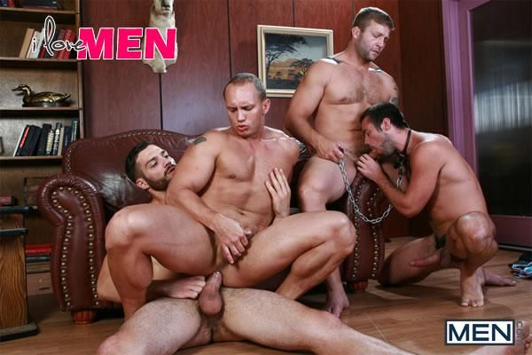 Trying Out The Goods in Jizz Orgy | Daily Dudes @ Dude Dump