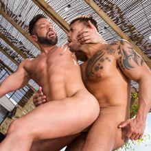 Uncut bottom Ramwey Reis gets a thick cock! | Daily Dudes @ Dude Dump