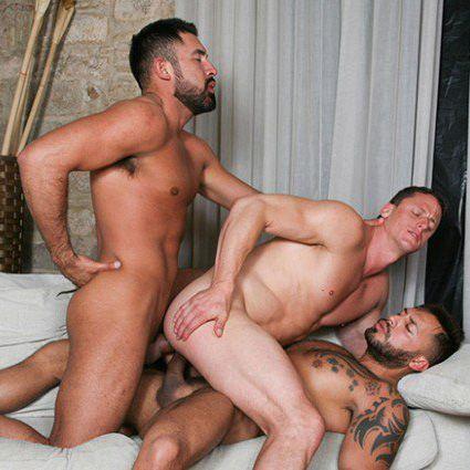 Viktor Rom Gabriel Taurus double-fuck Ivan Gregory | Daily Dudes @ Dude Dump