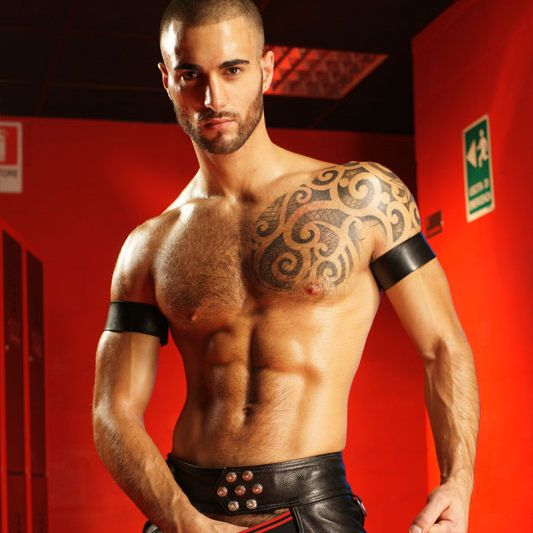 Will Helm's a scream in leather   Daily Dudes @ Dude Dump