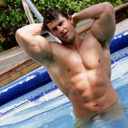 Zeb Atlas Naked & Horny in the Pool | Daily Dudes @ Dude Dump